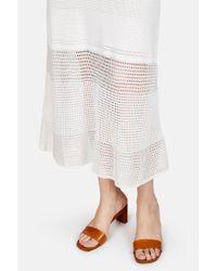Proenza Schouler - White Sleeveless Crewneck Patch Knit Dress - Lyst