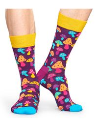 Happy Socks Black Shrooms Anniversary Socks for men