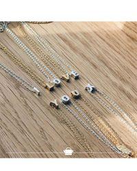 Orelia - Metallic Necklace Initial Y - Lyst