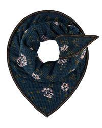 POM Amsterdam - Blue Shawl Soft Flower Emerald - Lyst