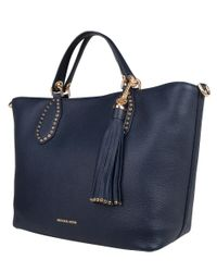 Michael Kors | Blue Brooklyn Large Grab Bag | Lyst