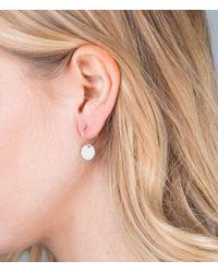 Orelia - Metallic Mini Coin Hoop Earring - Lyst