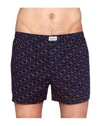 Happy Socks - Blue Briefs Optic for Men - Lyst