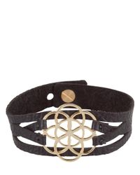 MYOMY - Black Flower Of Life Bracelet - Lyst