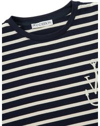 J.W. Anderson - Blue Breton Stripe Knot T-shirt - Lyst