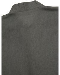Homme Plissé Issey Miyake - Gray Ss Linen Shirt for Men - Lyst
