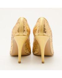 Stuart Weitzman - Metallic Sequin Heels - Lyst