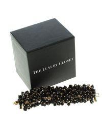 CH by Carolina Herrera - Black Beads Gold Tone Bracelet 18cm - Lyst