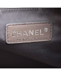 Chanel - Black Leather Cc Chain Around Bowling Bag - Lyst