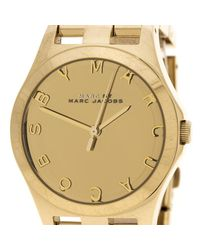 Marc By Marc Jacobs - Metallic Plated Stainless Steel Henry Mbm3211 Women's Wristwatch 36 Mm - Lyst