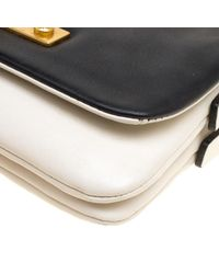 Marc By Marc Jacobs - White /black Leather Flap Crossbody Bag - Lyst