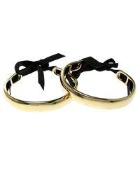 CH by Carolina Herrera - Metallic Tone Ribbon Tie-up Pair Of Open Cuff Bracelet - Lyst