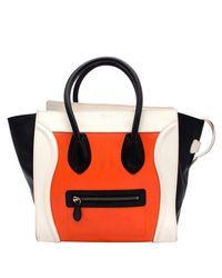1b804d890bbf Céline Ticolor Leather Mini Luggage Tote in Black - Lyst