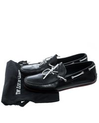 Ferragamo - Black Leather Contrast Bow Loafers for Men - Lyst