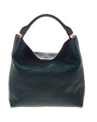 921306145131 Lyst - Burberry Emerald Grain Leather Lindburn Hobo in Green