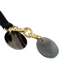 Marni - Black & Green Resin Charms Gold Tone Tie-up Necklace - Lyst