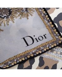 Dior - Multicolor Jewel And Animal Printed Silk Square Scarf - Lyst
