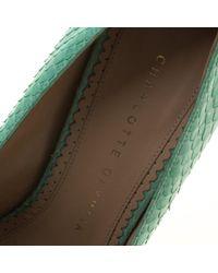 Charlotte Olympia - Green Mint Python Monroe Pumps - Lyst