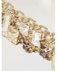 Lanvin - Metallic Gold-plated Crystal Choker - Lyst