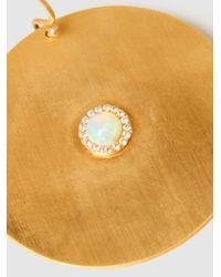 Ileana Makri - Metallic Sun Gold-plated Opal Earrings - Lyst