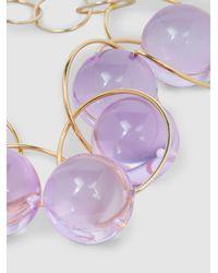 Marni - Metallic Gold-tone Plexiglas Choker Necklace - Lyst