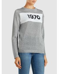 Bella Freud - Gray 1970 Intarsia Metallic-knit Sweater - Lyst