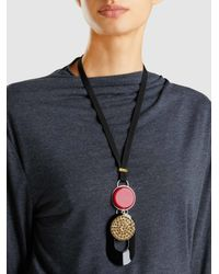 Marni - Metallic Embellished Resin Pendant Necklace - Lyst