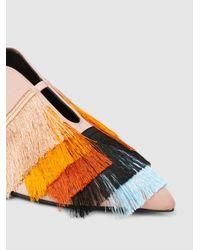 Coliac - Multicolor Assunta Fringed Satin Flats - Lyst