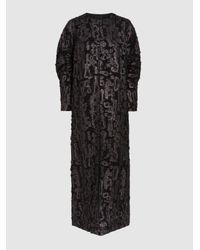 Zero + Maria Cornejo - Black Martin Cotton-blend Jacquard Coat - Lyst