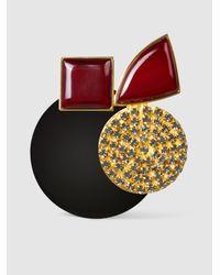 Marni | Multicolor Embellished Resin Brooch | Lyst
