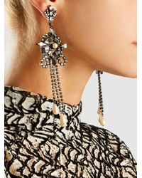 Erickson Beamon - Multicolor China Club Pearl And Crystal Earrings - Lyst