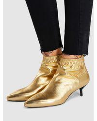 3.1 Phillip Lim - Blitz Metallic Leather Ankle Boots - Lyst