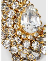 Erickson Beamon - Metallic Crystal Embellished Earrings - Lyst