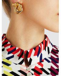 J.W. Anderson - Metallic Knot Gold-plated Earrings - Lyst