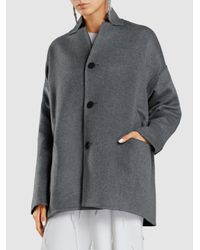 Oyuna | Gray Reversible Two-toned Cashmere Coat | Lyst