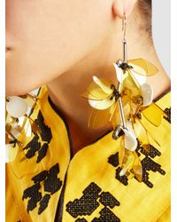 Marni | Metallic Silver-tone Resin Earrings | Lyst