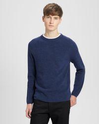Theory - Blue Merino Wool Raglan Sweater for Men - Lyst