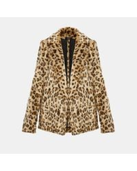 Theory - Multicolor Faux Leopard Relaxed Jacket - Lyst