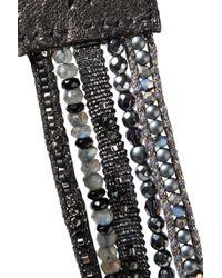Chan Luu - Black Sterling Silver Beaded Leather Bracelet - Lyst