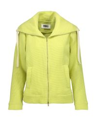 MM6 by Maison Martin Margiela | Multicolor Neon Honeycomb-knit Wool-blend Sweater | Lyst