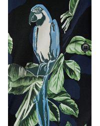 Stella McCartney - Black Printed Silk Shirt - Lyst