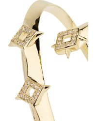 Noir Jewelry - Metallic Sargas Set Of Two Gold-tone Crystal Bangles - Lyst