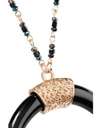 Kenneth Jay Lane - Metallic Gold-tone Stone And Enamel Necklace - Lyst