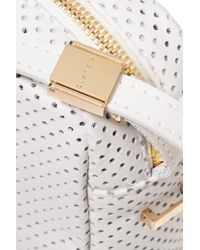 Clare V. - White Mini Sac Perforated Leather Shoulder Bag - Lyst