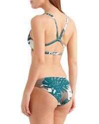 Mikoh Swimwear - Zuma Printed Bikini Briefs Army Green - Lyst