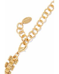 Elizabeth Cole - Metallic Woman 24-karat Gold-plated, Swarovski Crystal And Stone Necklace Multicolor - Lyst