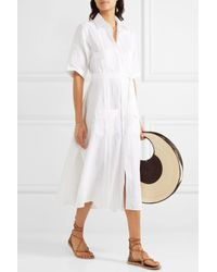 Miguelina | White Guayabera Linen Dress | Lyst