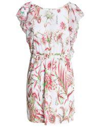 Just Cavalli - Multicolor Floral-print Linen-blend Coverup - Lyst