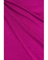 Enza Costa - Purple Knotted Jersey Midi Dress - Lyst