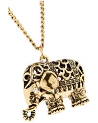 Kenneth Jay Lane - Metallic Gold-tone And Crystal Necklace - Lyst